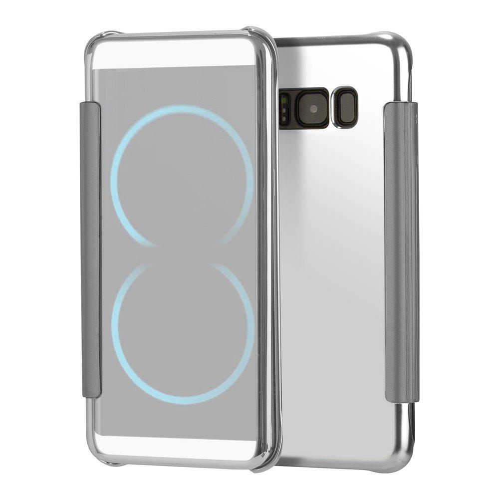 Mirror Plating Flip Ultra Thin Cover for Samsung Galaxy S8 Plus Case - SILVER