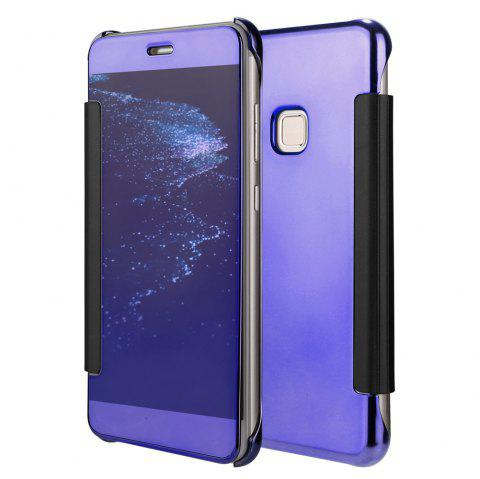 Original Electroplating Mirror Full View Window Luxury Smart Flip Cover for Huawei P10 Lite Leather Case - PURPLE