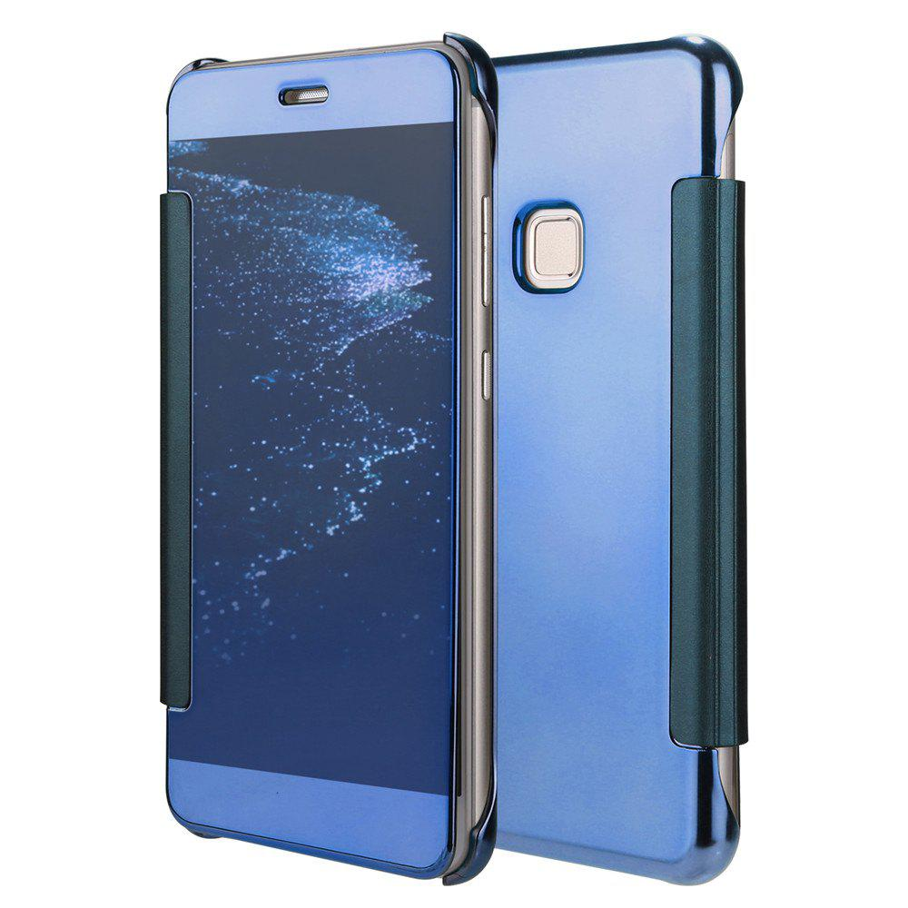 Original Electroplating Mirror Full View Window Luxury Smart Flip Cover for Huawei P10 Lite Leather Case - BLUE