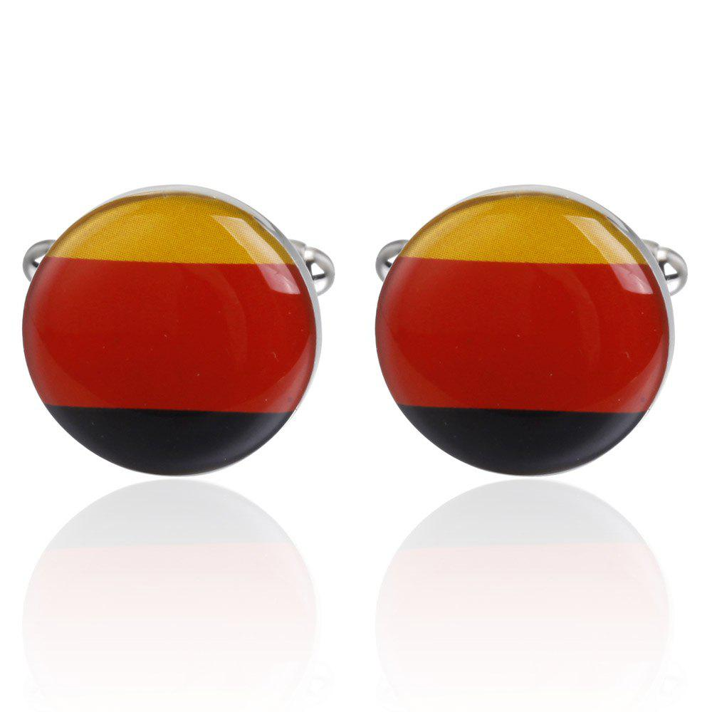 High Quality German Flag Pattern Cufflinks Cuff Links - RED