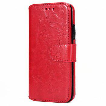Two In One Split Stone Pattern PU Leather Case for IPhone X - RED