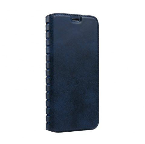 Ladder Series PU Leather Wallet Case for iPhone X - BLUE