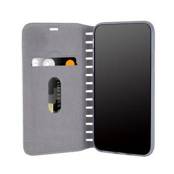 Ladder Series PU Leather Wallet Case for iPhone X - WHITE