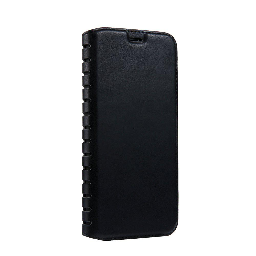 Ladder Series PU Leather Wallet Case for iPhone X - BLACK