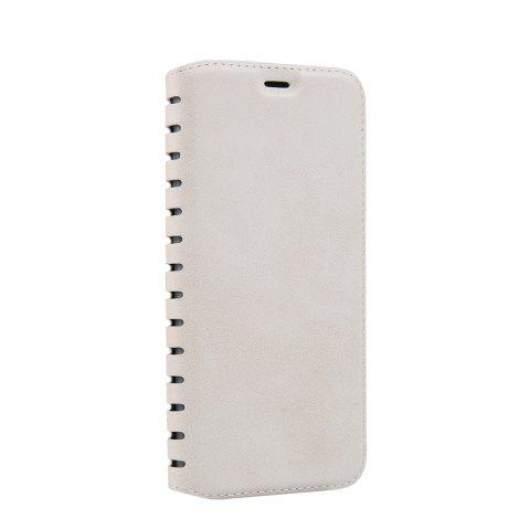 Ladder Series PU Leather Wallet Case for iPhone 6 - WHITE