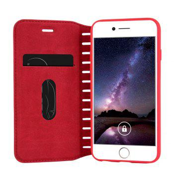 Ladder Series PU Leather Wallet Case for iPhone 6 - RED