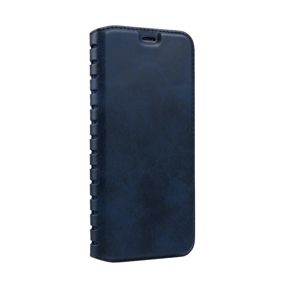 Ladder Series PU Leather Wallet Case for iPhone 6 - BLUE