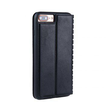 Ladder Series PU Leather Wallet Case for iPhone 7 Plus - BLACK