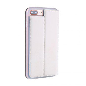 Ladder Series PU Leather Wallet Case for iPhone 7 Plus - WHITE
