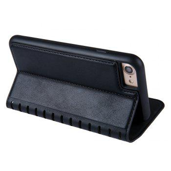 Ladder Series PU Leather Wallet Case for iPhone 8 - BLACK