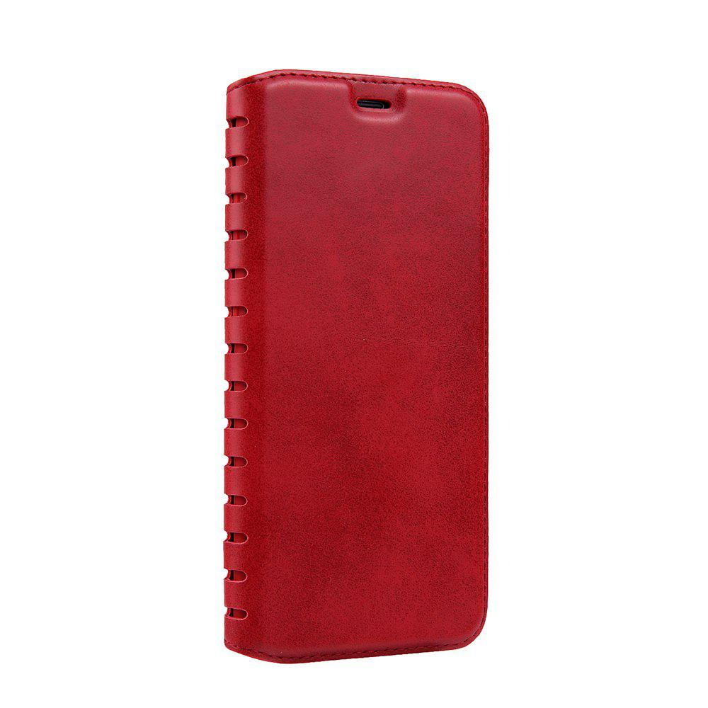 Ladder Series PU Leather Wallet Case for iPhone 8 - RED