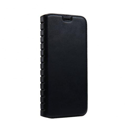 Ladder Series PU Leather Wallet Case for iPhone 8 Plus - BLACK