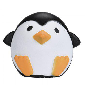 Cute Penguins Squishy Slow Rising Cream Scented Decompression Toy - BLACK BLACK