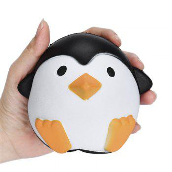 Cute Penguins Squishy Slow Rising Cream Scented Decompression Toy - BLACK