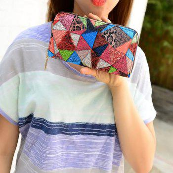Women's Purse Colorblock Chic Geometric Ladylike Bag - COLORFUL