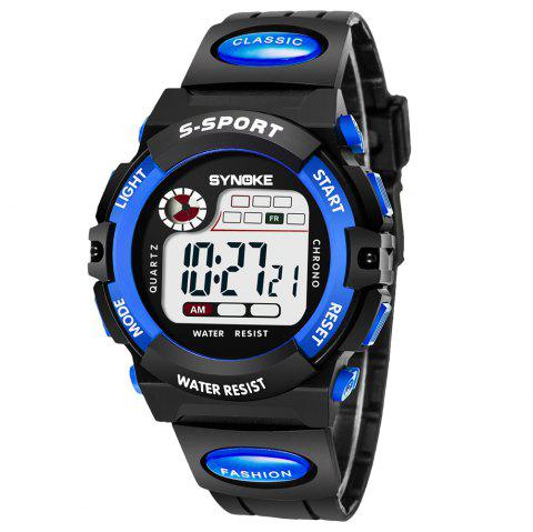 SYNOKE 99269 Sports Waterproof  Electronic Watch - BLUE MALE