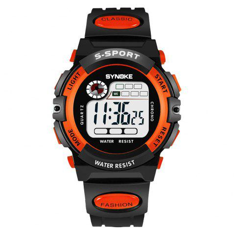 SYNOKE 99269 Sports Montre électronique étanche - Orange FEMALE