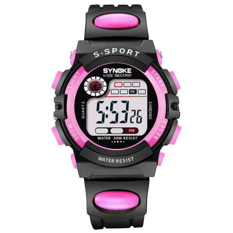 SYNOKE 99269 Sports Waterproof  Electronic Watch - PINK FEMALE