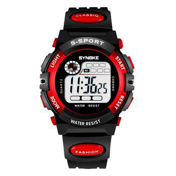 SYNOKE 99269 Sports Waterproof  Electronic Watch - RED RED