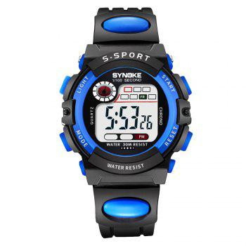 SYNOKE 99269 Sports Waterproof  Electronic Watch - BLUE BLUE