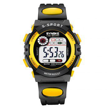 SYNOKE 99269 Sports Waterproof  Electronic Watch - YELLOW YELLOW