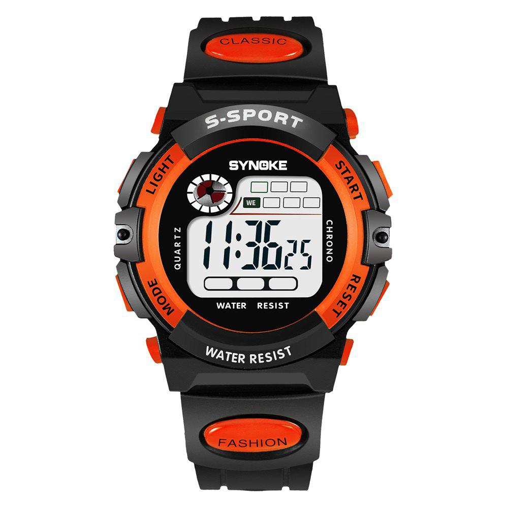 SYNOKE 99269 Sports Montre électronique étanche - Orange MALE