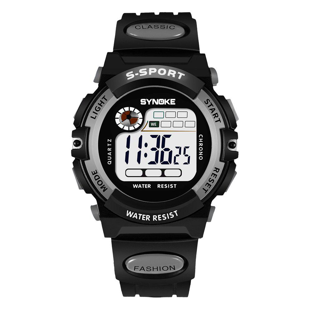 SYNOKE 99269 Sports Waterproof  Electronic Watch - GRAY MALE
