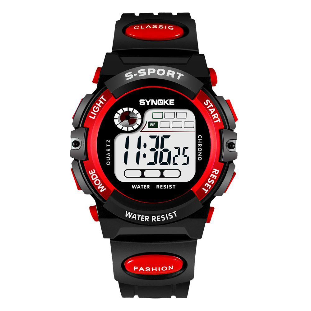 SYNOKE 99269 Sports Montre électronique étanche - Rouge FEMALE