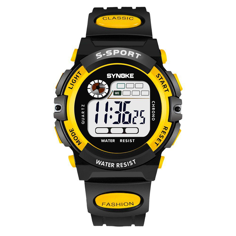SYNOKE 99269 Sports Waterproof  Electronic Watch - YELLOW MALE