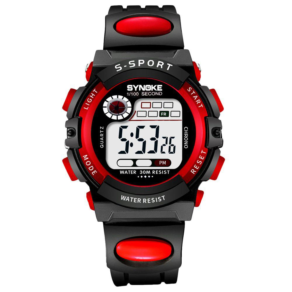 SYNOKE 99269 Sports Waterproof  Electronic Watch - RED FEMALE
