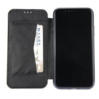 Sumptuous PU Leather Folio Flip Case with Card Slot Clear Soft TPU Back Cover for iPhone 7 Plus / 8 Plus - BLACK