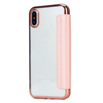 Sumptuous PU Leather Folio Flip Case with Card Slot Clear Soft TPU Back Cover for iPhone 7 Plus / 8 Plus - PINK