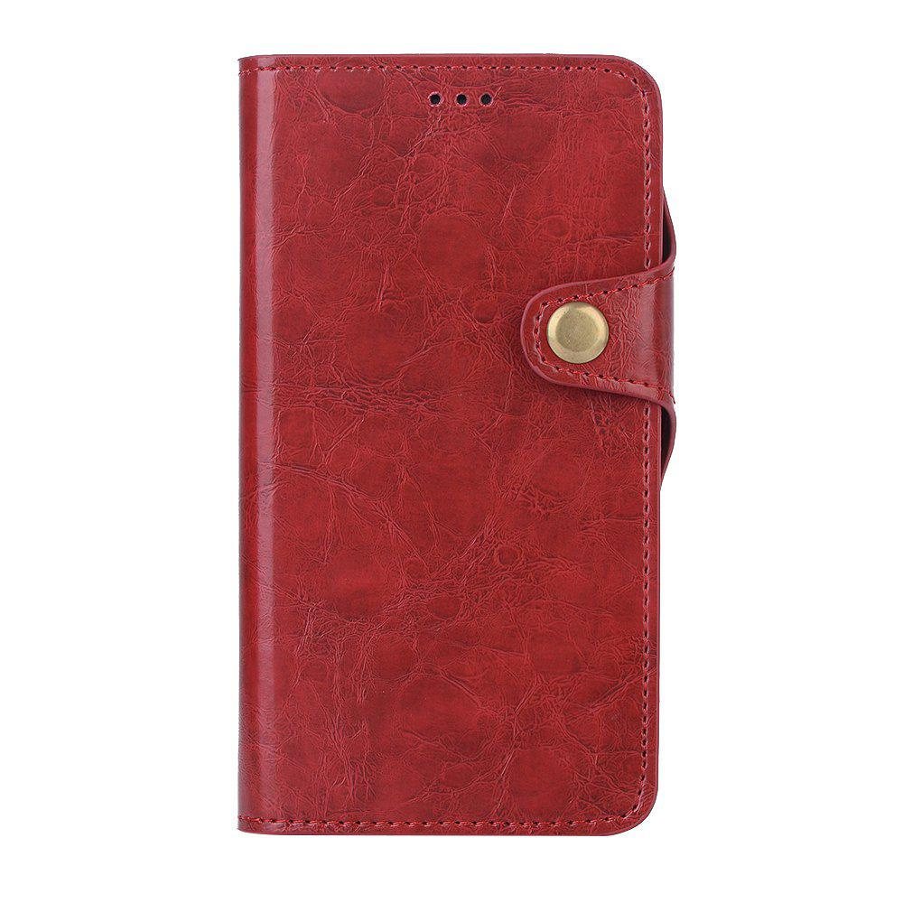 Premium PU Leather Wallet Case Cover 2 in 1 Removable Shell Magnetic Flip Cover for iPhone X - RED