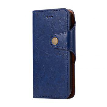 Premium PU Leather Wallet Case Cover 2 in 1 Removable Shell Magnetic Flip Cover for iPhone 7 / 8 - DEEP BLUE