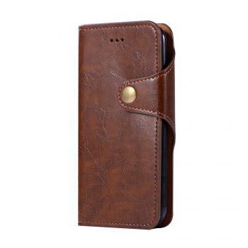 Premium PU Leather Wallet Case Cover 2 in 1 Removable Shell Magnetic Flip Cover for iPhone 7 / 8 - BROWN