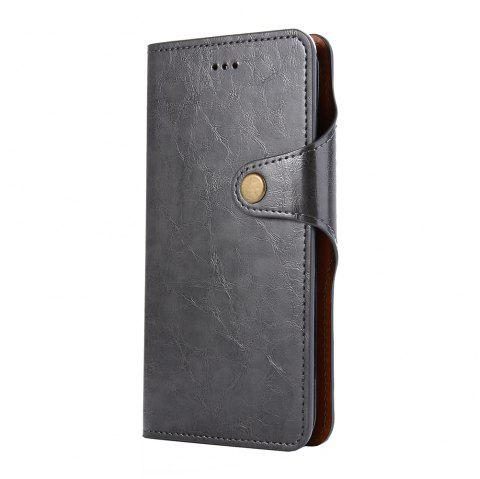 Premium PU Leather Wallet Case Cover 2 in 1 Removable Shell Magnetic Flip Cover for iPhone 7 Plus / 8 Plus - BLACK