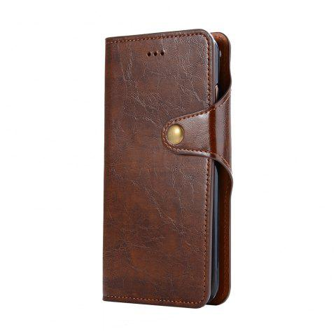 Premium PU Leather Wallet Case Cover 2 in 1 Removable Shell Magnetic Flip Cover for iPhone 7 Plus / 8 Plus - BROWN