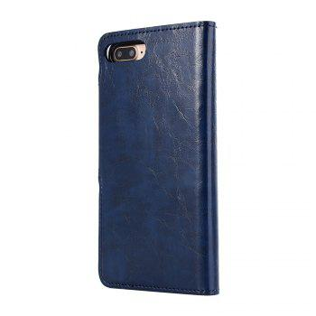 Premium PU Leather Wallet Case Cover 2 in 1 Removable Shell Magnetic Flip Cover for iPhone 7 Plus / 8 Plus - DEEP BLUE