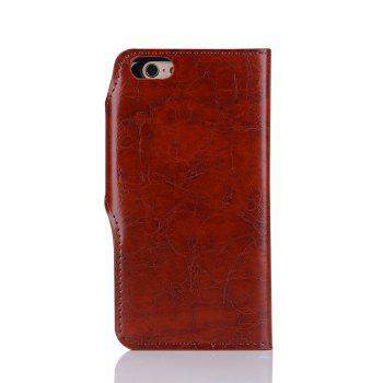 2 in 1 Removable Shell Magnetic Flip  Cover PU Leather Wallet Case for iPhone 6  /  6S - WINE RED