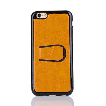 2 in 1 Removable Shell Magnetic Flip  Cover PU Leather Wallet Case for iPhone 6  /  6S - YELLOW