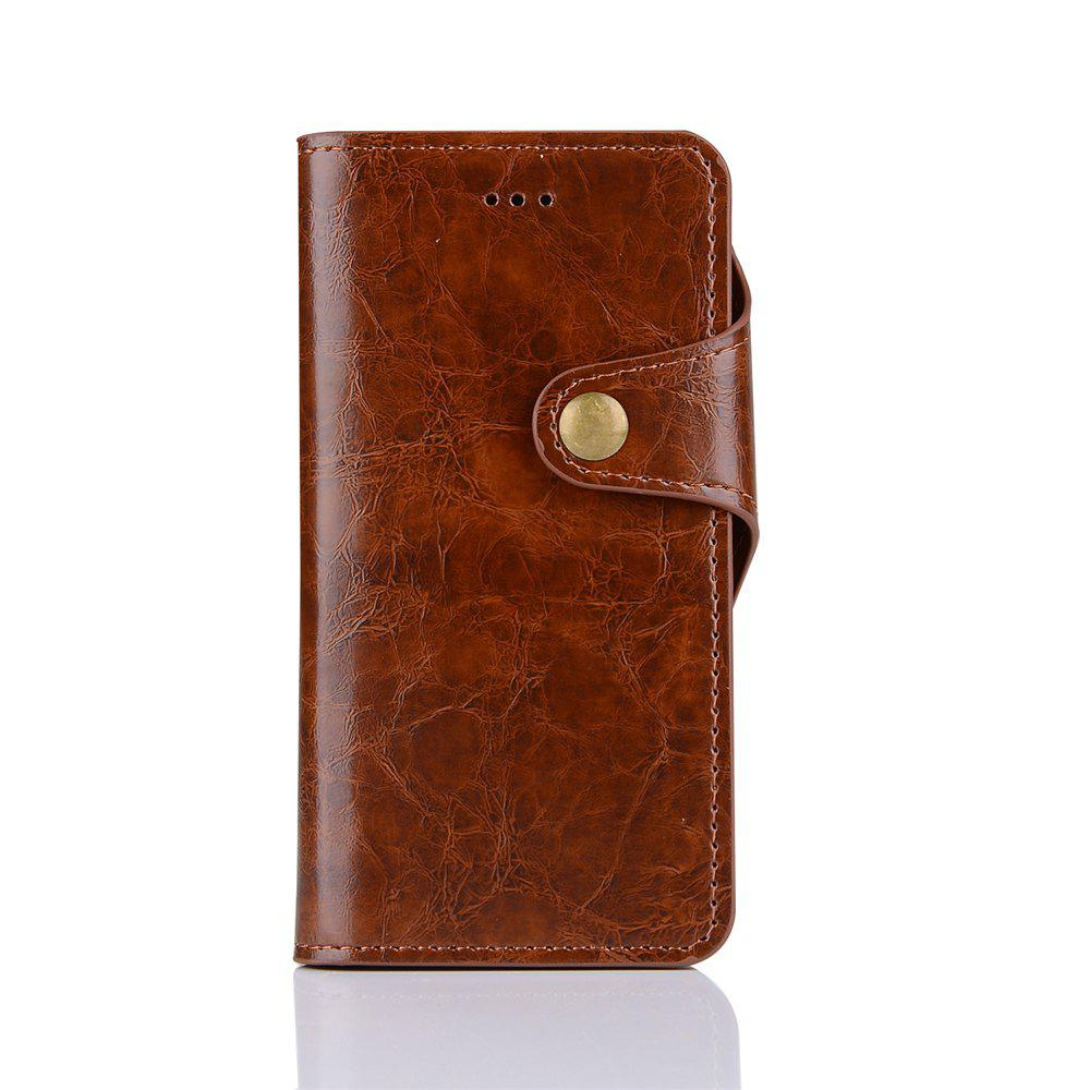 2 in 1 Removable Shell Magnetic Flip  Cover PU Leather Wallet Case for iPhone 6  /  6S - BROWN