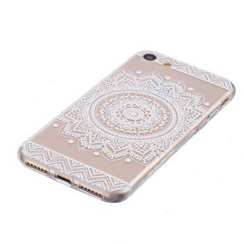 Mandala Pattern TPU Silicone Gel Soft Clear Case Cover for iphone 7/8 - WHITE