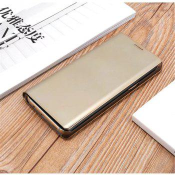 Original Mirror Clear View Smart Cover Phone Case with Flip for Samsung Galaxy Note 8 -  GOLDEN