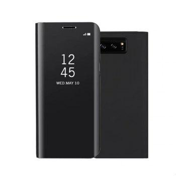 Original Mirror Clear View Smart Cover Phone Case with Flip for Samsung Galaxy Note 8 - BLACK BLACK