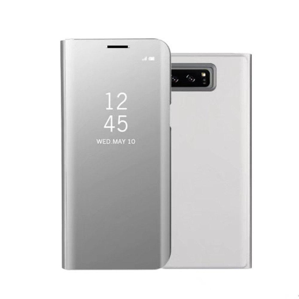 Original Mirror Clear View Smart Cover Phone Case with Flip for Samsung Galaxy Note 8 - FROST