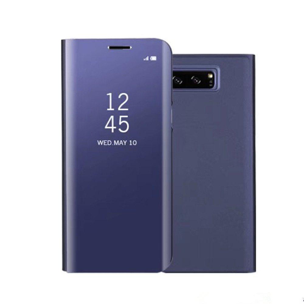 Original Mirror Clear View Smart Cover Phone Case with Flip for Samsung Galaxy Note 8 - BLUE