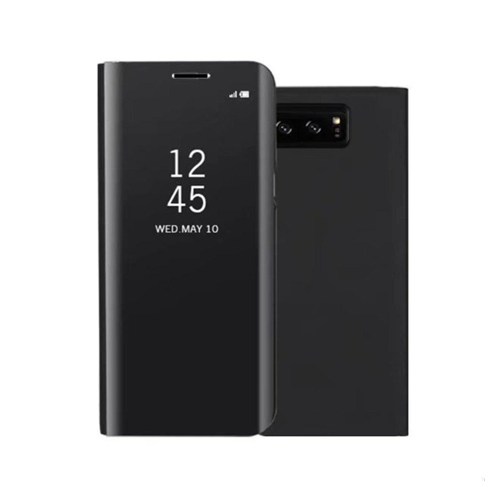 Original Mirror Clear View Smart Cover Phone Case with Flip for Samsung Galaxy Note 8 - BLACK