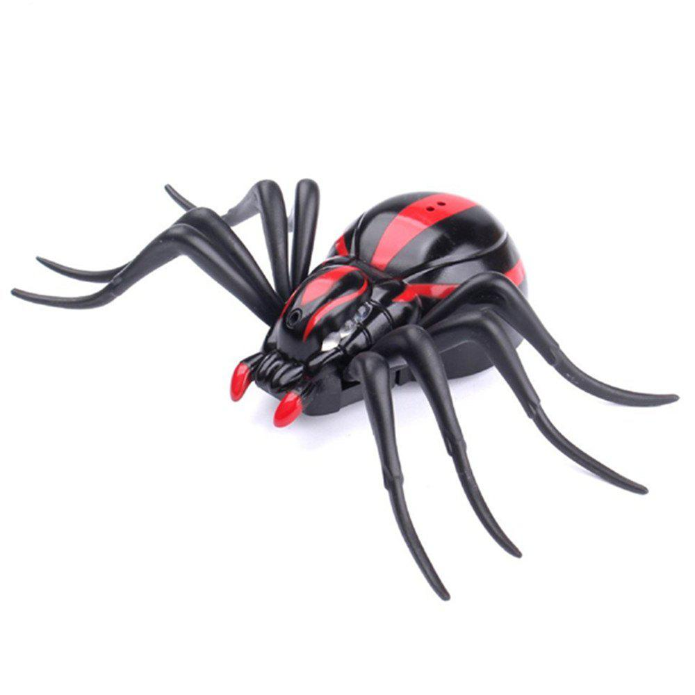 Infrared Remote Control Realistic Mock Fake Spider RC Toy Prank Insects Joke Scary Trick Bugs for Party infrared remote control rc black