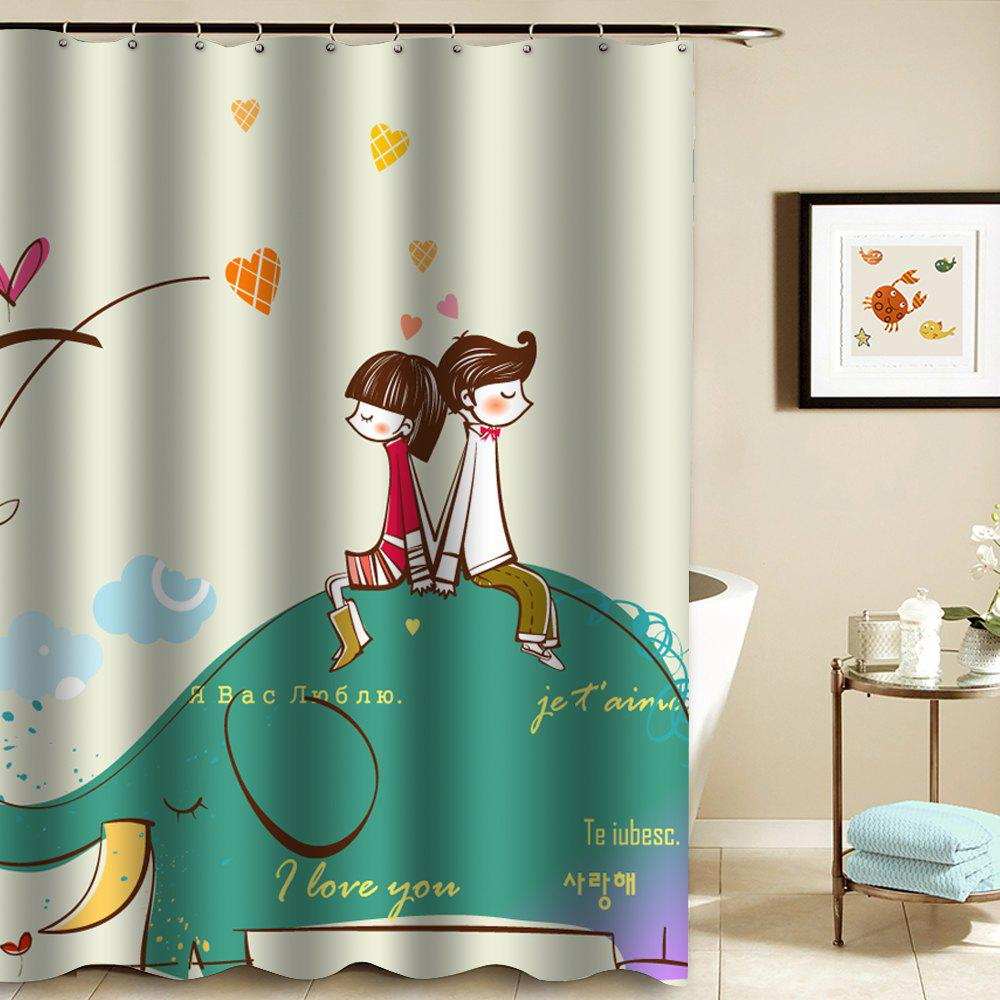 Shower Curtain Mouldproof Waterproof Toilet  Bathroom Partition - COLORMIX