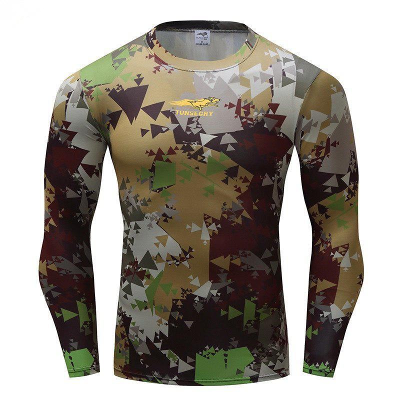 Long Sleeve Men's Clothing Fashion Trend - ARMYGREEN 4XL